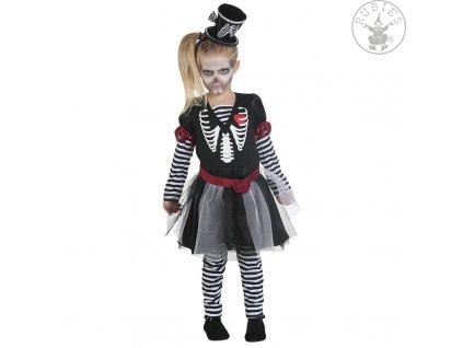 Dívčí šaty skelton  Halloween