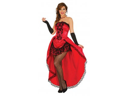 Červený kabaretní kostým
