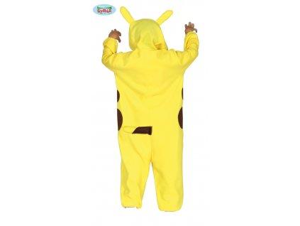 Pikachu - dětský kostým  Pokémon Chinchilla costume + textilní rouška ke každé objednávce zdarma