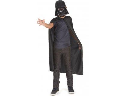 Dětský kostým Darth Vader maska+plášť - licence  dětský - chlapecký karnevalový - maškarní kostým