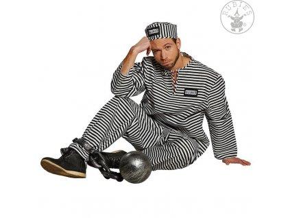 Kostým pro dospělé - vězeň  pánský karnevalový kostým