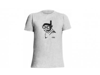 Funkita Tričko Snorkel Pug Šedé XS  + textilní rouška ke každé objednávce zdarma