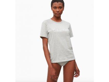 Calvin Klein Logo Dámské Tričko Šedé  + textilní rouška ke každé objednávce zdarma