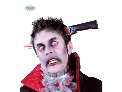 Nůž v hlavě na sponě  Halloween