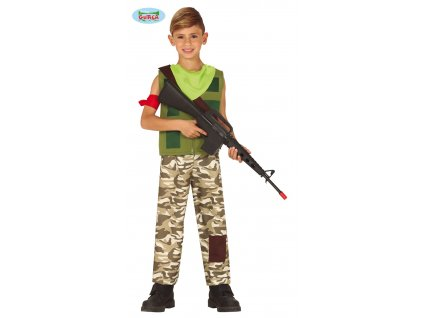 Voják dětský kostým žoldák  Gamer mercenary costume
