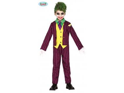 Joker kostým dětský  Crazy villain child costume