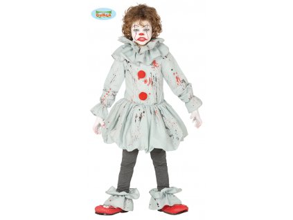 Strašidelný klaun dětský kostým  Horror clown child costume