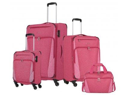 Travelite Jakku 4w S,M,L + BB Red