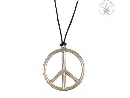 Náhrdelník - Peace, prům. 6,5 cm