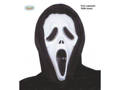 Maska vřískot se šátkem  Halloween