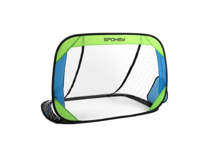 Spokey GOALKEEPER samorozkládací fotbalová branka 2 ks, zeleno-modrá