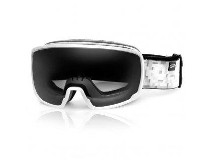 Spokey GRAYS lyžařské brýle šedo-bílé