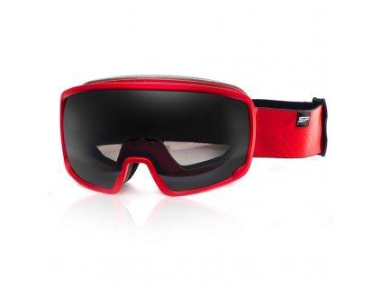 Spokey GRAYS lyžařské brýle černo-červené