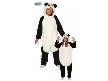 Pyžamo Panda - overal s kapucí dětský
