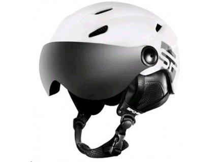 Spokey JASPER lyžařská přilba s čelním sklem, bílá, vel. S-XL