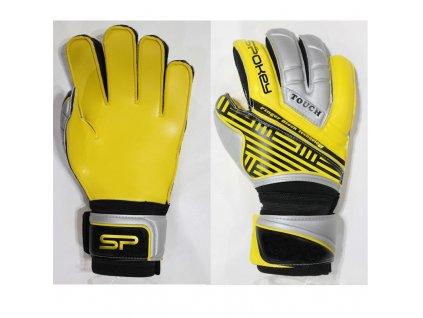 Spokey TOUCH PRO Brankářské rukavice žluté