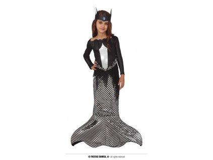 Temná mořská víla dětský kostým