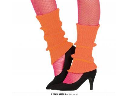 Neonové návleky na nohy oranžové