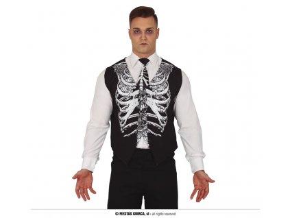Kostlivec vesta s kravatou