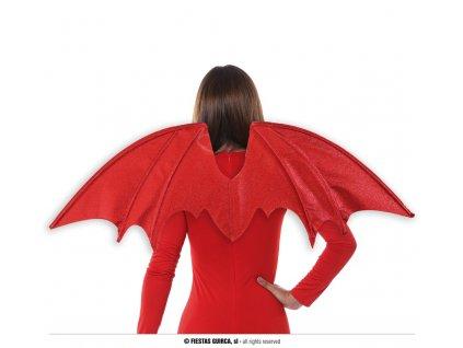 Červená třpytivá křídla 90x37 cm