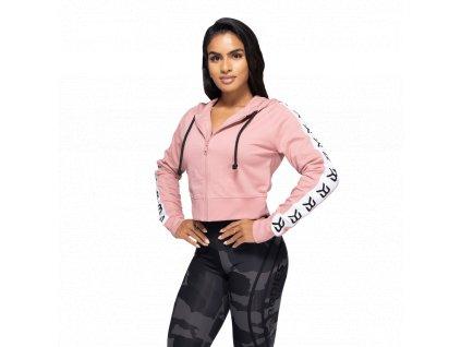 Better Bodies Crop Mikina Vesey Heather Pink S