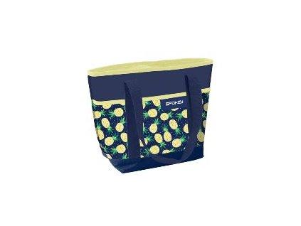 Spokey ACAPULCO Termo taška malá, vzor - ananas, 39 x 15 x 37 cm