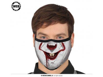 Rouška klaun se špičáky