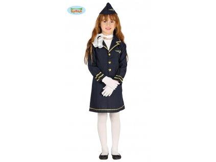Stewardka - dětský kostým letuška