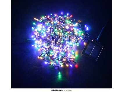 Venkovní solární svítící vánoční řetěz 8 funkcí 11,2 m, 560 LED