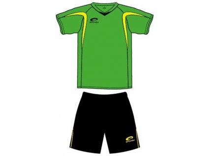 Spokey SHANK Fotbalový dres L černo-zelený
