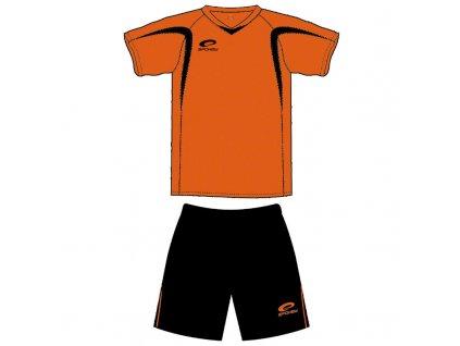 Spokey DOPRODEJ SHANK Fotbalový dres černo-oranžový- všechny velikosti v detailu