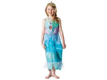 Kostým Ariel s flitry a čelenkou - licenční kostým D