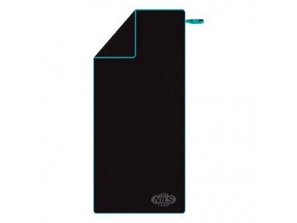 Ručník z mikrovlákna NILS Camp NCR13 černý/modrý