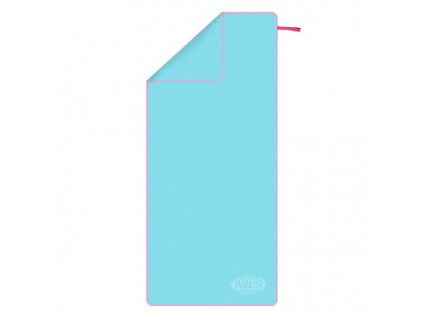 Ručník z mikrovlákna NILS Camp NCR13 světle modrý/růžový