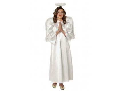Anděl 6 - 8 roků - kostým s křídly a svatozáří  dětský kostým anděl s křídly a svatozáří