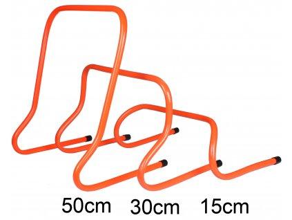 Plastová překážka 15,30,50cm