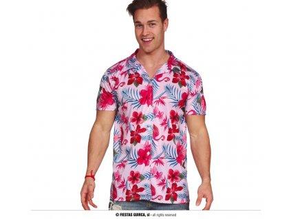 Havajská košile plameňáci