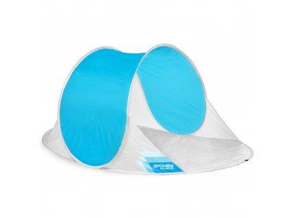 Spokey NIMBUS samorozkládací outdoorový paravan bílo-modrý