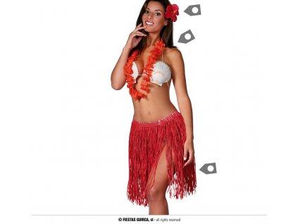 Hawajský set pro dospělé červený