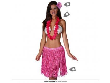 Hawajský set pro dospělé růžový