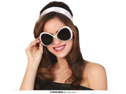 Bílé brýle 70-tá