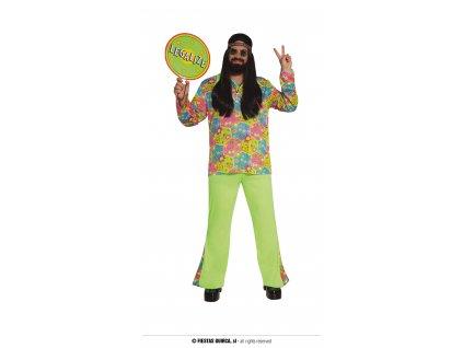 Pánský kostým hippie Flower Power XL