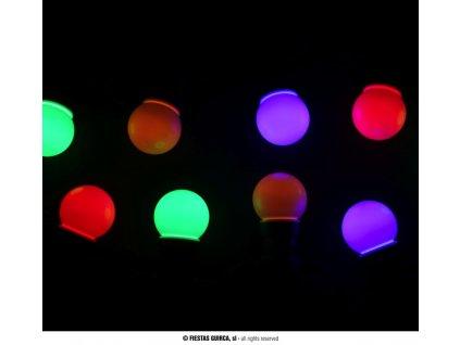 Ozdobná světelná girlanda 10 LED žárovek multicolor 4,5 m