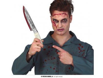 Krvavý kuchyňský nůž