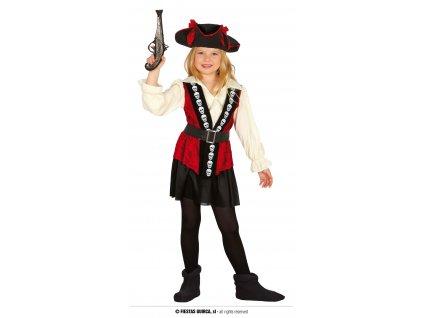 Pirátka s lebkami kostým dětský