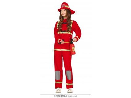 Hasičský oblek červený unisex