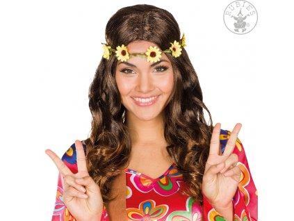 Dámská paruka hippie hnědá -  VADA