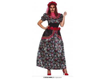 Catrina pestrobarevný kostým