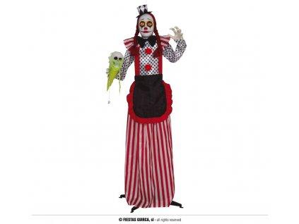 Harlequin klaun 160cm svítící LED dekorace Halloween