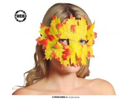 Maska/škraboška listy žluté